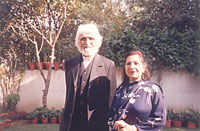 Sushma Seth with MF husain